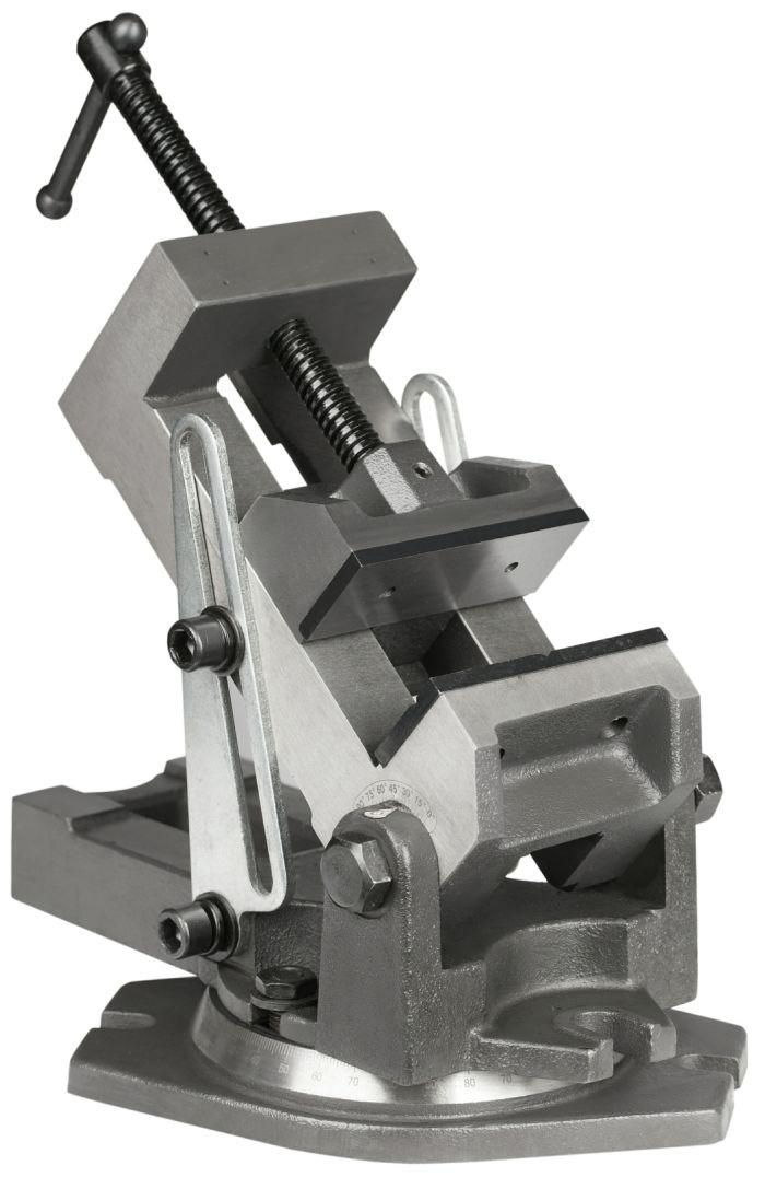 Přesný strojní svěrák otočný naklápěcí 100